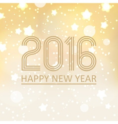 happy new year 2016 on shiny christmas background vector image