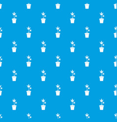 hemp in pot pattern seamless blue vector image