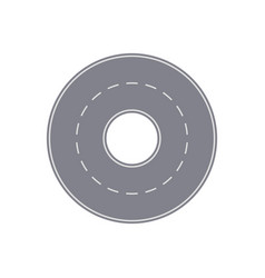 Highway ring isolated street map segment vector