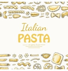 Horizontal seamless background with Italian pasta vector