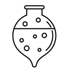 Hospital boiling flask icon outline style vector