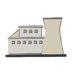 Industrial plant building vector