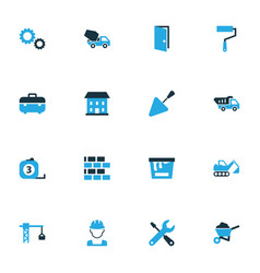 Industry colorful icons set collection of vector