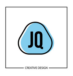 initial letter jq logo template design vector image