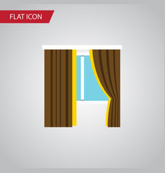 isolated frame flat icon glass element can vector image