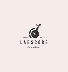 lab leaf test meter level logo vintage retro vector image
