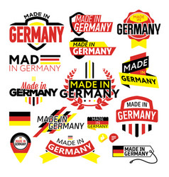 label made in germany vector image