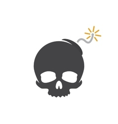 logo design combination of a skull and bomb vector image