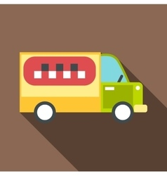Minibus taxi icon flat style vector