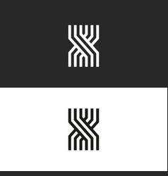 minimal style logo x letter icon monogram vector image
