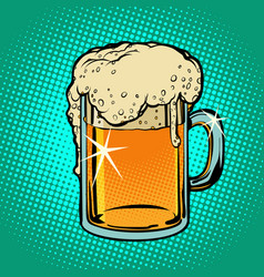 mug of beer alcoholic beverage vector image