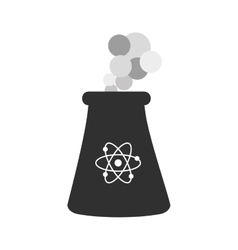 Nuclear plant atom smoke icon graphic vector