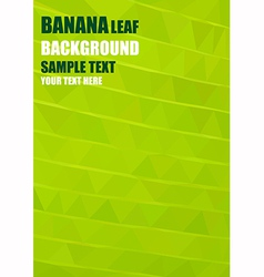 Origami banana leaf vector image