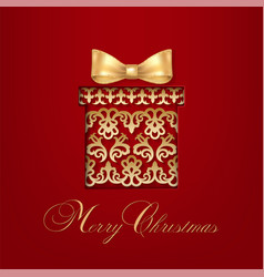 ornamental gift with bow vector image