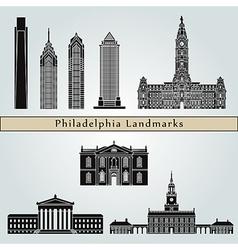 Philadelphia landmarks and monuments vector image