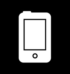 Phone line icon isolated on vector