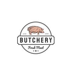 Pork logo designs for butchery companies vector