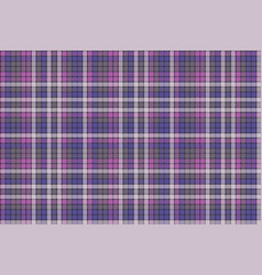 purple pixel plaid fabric texture seamless pattern vector image