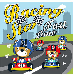 racing car formula cartoon vector image
