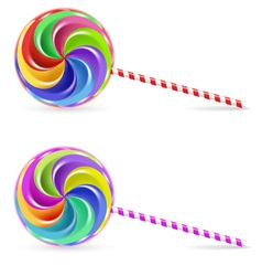 Rainbow lollipop vector