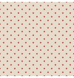 Red vintage polka dot seamless pattern on fabric vector