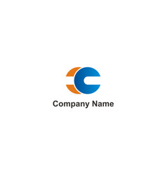 round connect technology company logo vector image