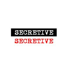 Secretive rubber stamp badge with typewriter set vector