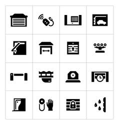 Set icons automatic gates vector