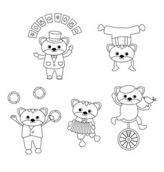 set of circus animals set of circus animals vector image