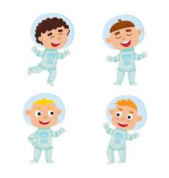 set ofastronaut kids isolated on white background vector image