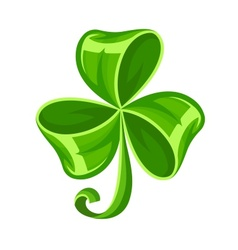 Shamrock bow made of green vector image