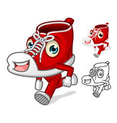 Shoes Mascot with Extremities vector