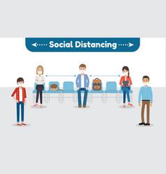 social distancing for coronavirus disease vector image