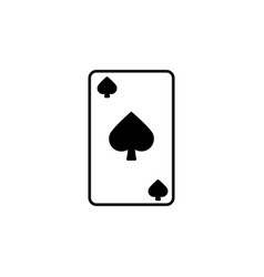 spades card icon vector image