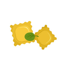 Spinach biscuits icon flat style vector