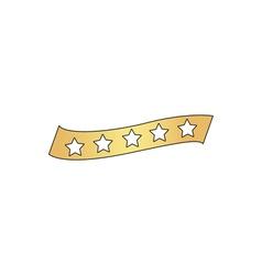 star ribbon computer symbol vector image