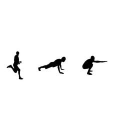 sticker for car athletes silhouette runner vector image