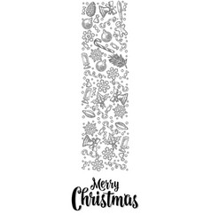 template for greeting card merry christmas vector image