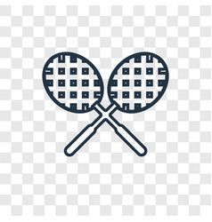 tennis racket concept linear icon isolated on vector image
