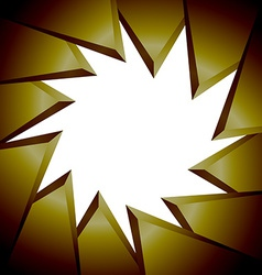 Triangle background GOLD vector image