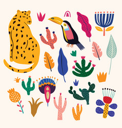 tropical collection vector image