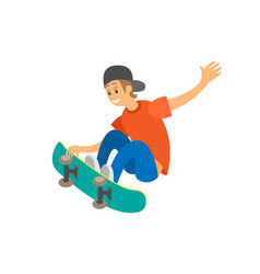 Urban activity skating boy skateboard vector