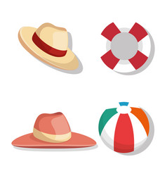Vacations travel holidays icons vector