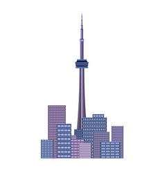 vancouver city beautiful urban and cityscape vector image