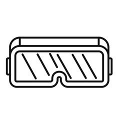 vr game goggles icon outline style vector image