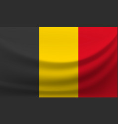 Waving national flag belgium vector