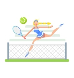 Woman tennis player vector