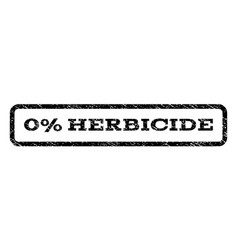 0 percent herbicide watermark stamp vector image