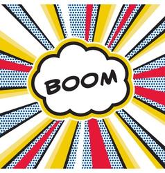 BOOM Pop Art Explosion vector image