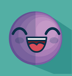 face emoticon character icon vector image